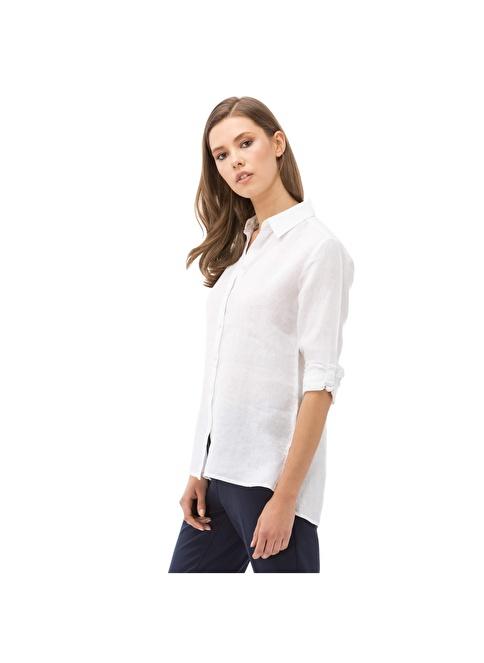 Nautica Uzun Kollu Gömlek Beyaz